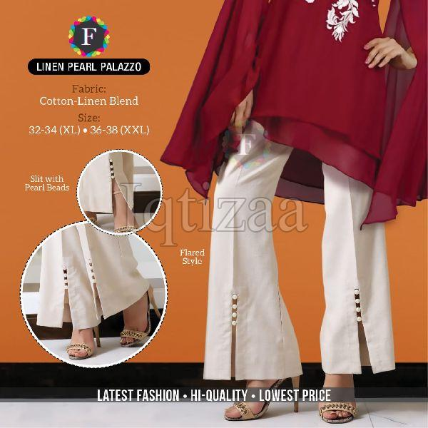 Linen Pearl Palazzo 01