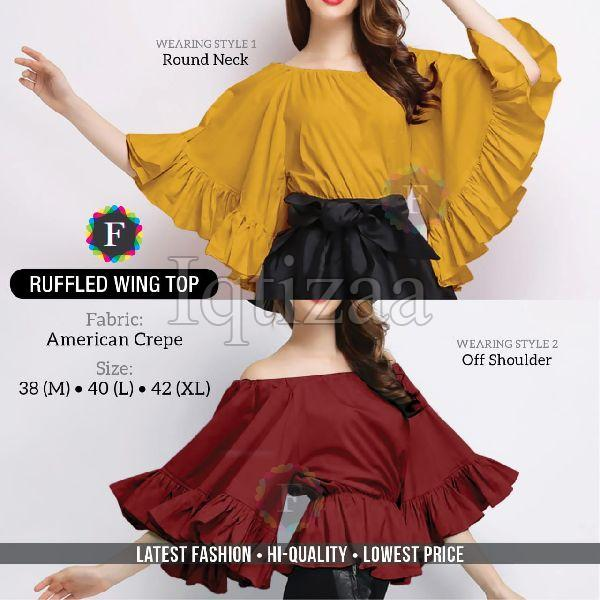 Ruffled Wing Top 01