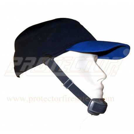 Bump cap long peak Sapphire with chin strap Mallcom