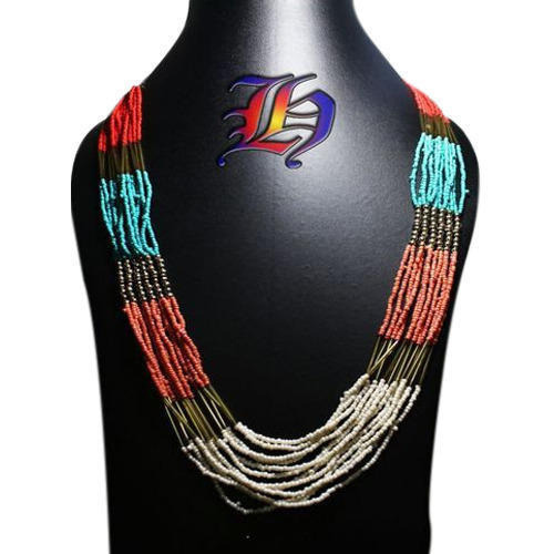 Colorful Seed Beaded Necklace