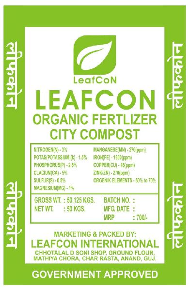 City Compost Organic Fertilizer
