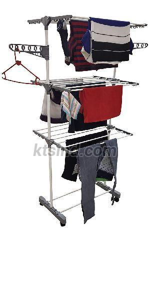 Single Pole 3 Tier Cloth Drying Stand (Grey)