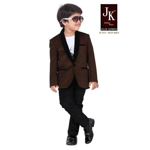 Brown Kids Blazer