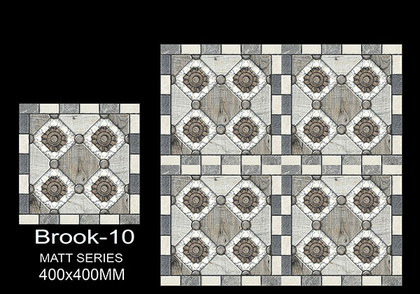 Brook-10 - 40x40 cm Ceramic Floor Tiles