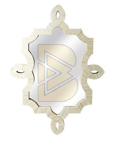 Bone Inlay Bohemian White Mirror