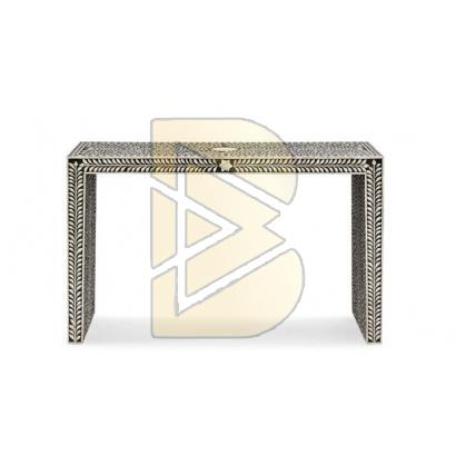 Bone Inlay Floral Design Console Table 02