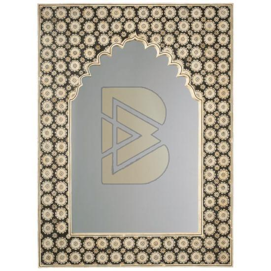 Bone Inlay Mehrab Golden Mirror