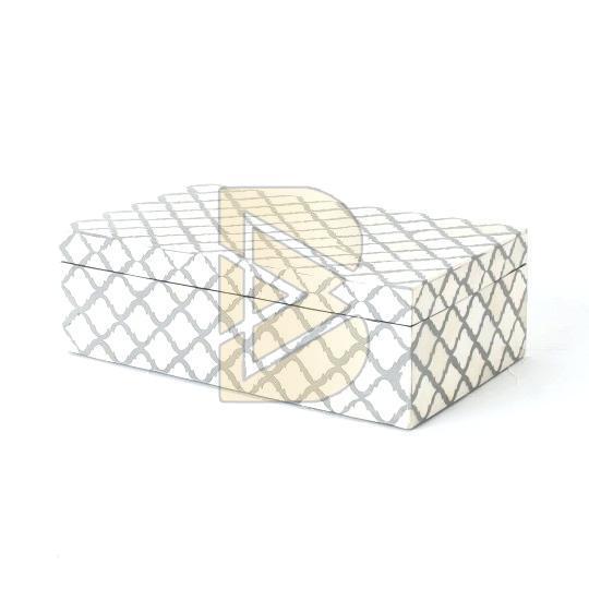 Bone Inlay Moroccan Design Ivory Box