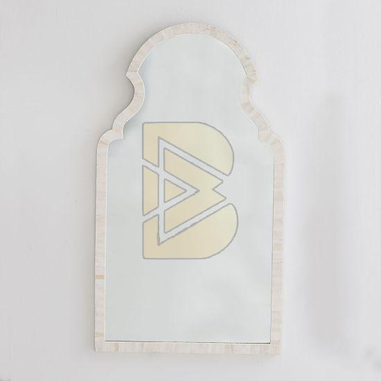 Bone Inlay Moroccan Full Bone Design White Mirror