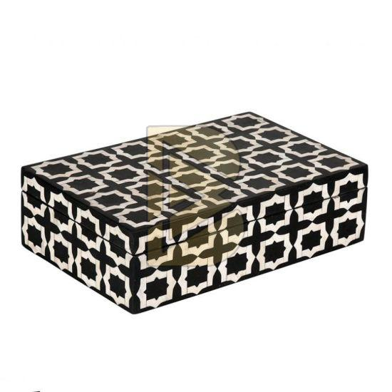 Bone Inlay Star Design Black Box