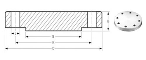 Dimensions of Blind Flanges ASME B16.5