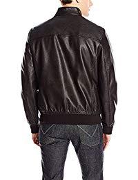 Mens Lambskin Black Leather Biker Jacket 02