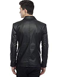 Mens Lambskin Leather Blazer Jacket 02
