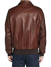 Mens Lambskin Brown Leather Biker Jacket 02