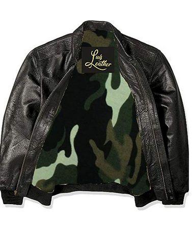Mens Leather Flight Jacket 02