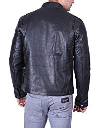 Mens Casual Wear Leather Jacket 02