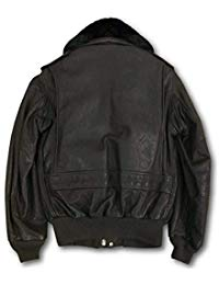 Mens Lambskin Black Leather Bomber Jacket 02