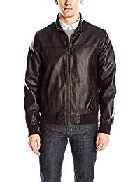 Mens Lambskin Black Leather Biker Jacket 01