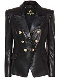 Womens Lambskin Classic Leather Biker Jacket 01