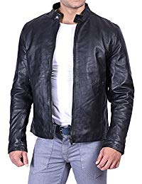Mens Casual Wear Leather Jacket 01