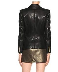 Womens Lambskin Classic Leather Biker Jacket 02