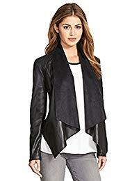 Womens Lambskin Black Leather Biker Jacket 05