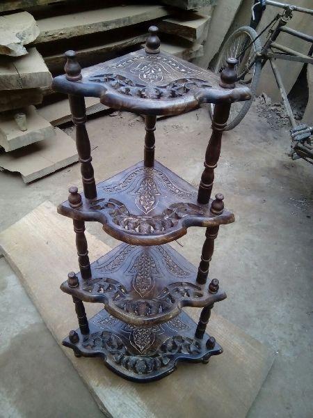 Wooden Corner Table 01