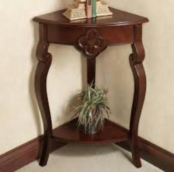 Wooden Corner Table 03