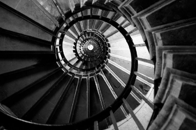 Brownish Spiral Stairs