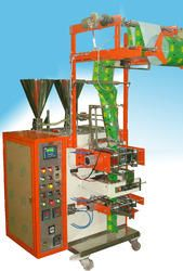 Automatic Pneumatic Two Track Form Fill & Seal Machine With Piston Filler