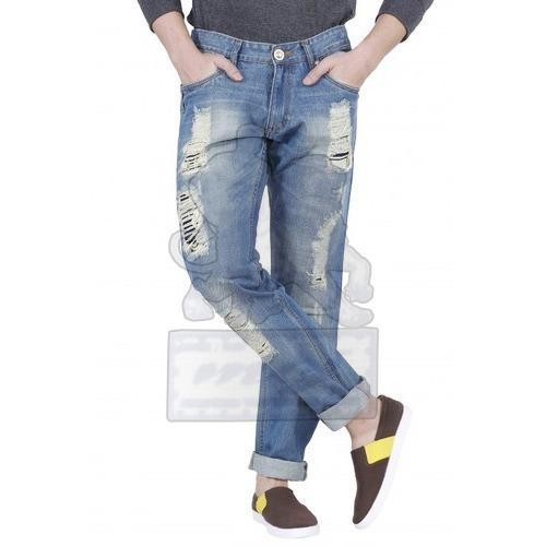 Mens Stylish Ripped Jeans 01