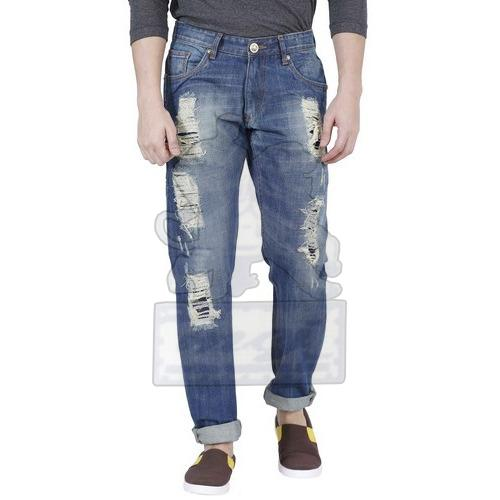 Mens Stylish Ripped Jeans 02
