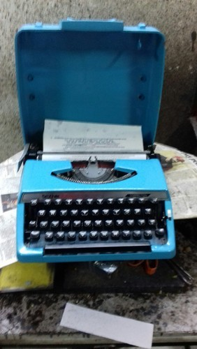 Brother Blue Portable Typewriter 01