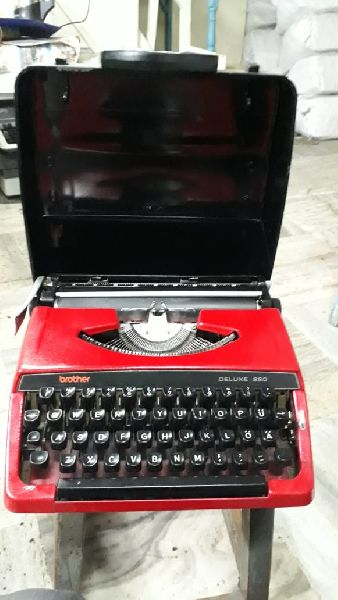 Brother Red Portable Typewriter 01