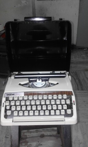 Brother White Portable Typewriter 01