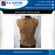 Goat Suede Leather Jacket