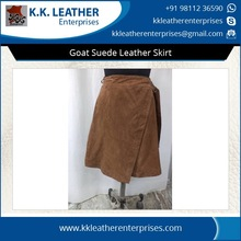 Pure Goat Suede Leather Skirt