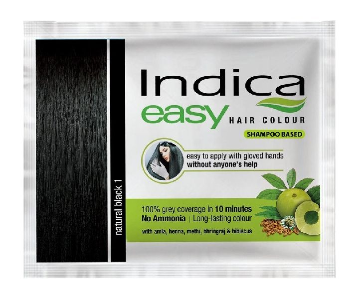 Herbal Black Hair Color Shampoo Base