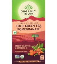 Tulsi Green Tea and Pomegranate, bags