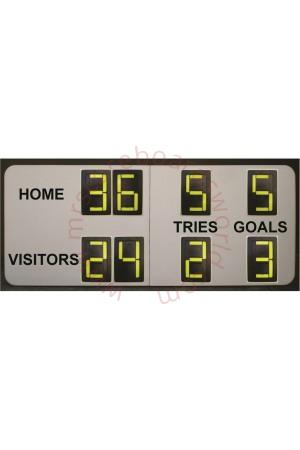 8 Digit Rugby Large Self Supporting Scoreboard