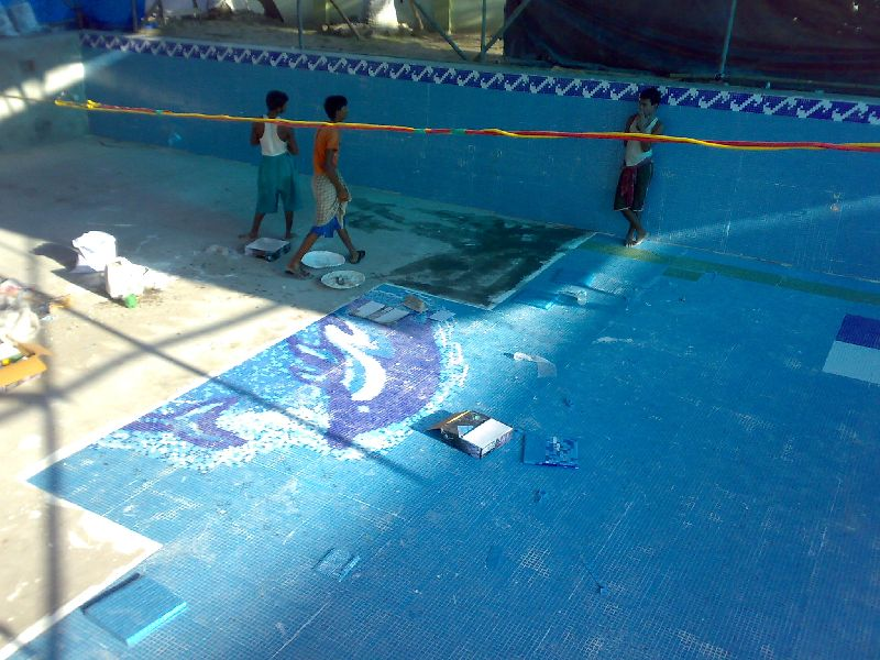 Swimming Pool Tile Fixing Services