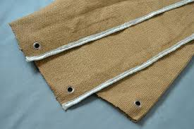 Vermiculite Coated Fiberglass Fire Blanket