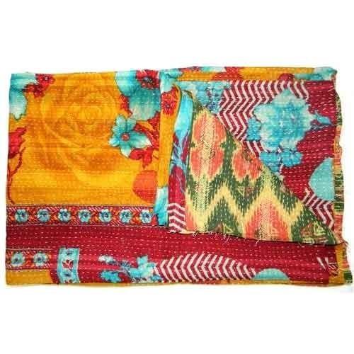 Kantha Quilt Bed Sheet