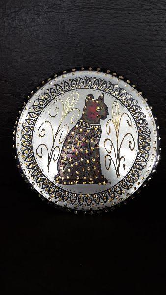 Handmade Copper Craft Pharaonic Plate 01