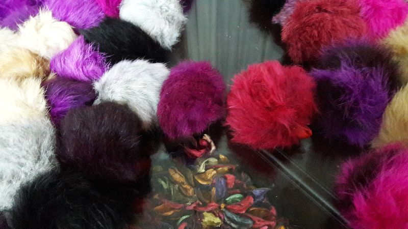 Rabbit Fur Keychain 02