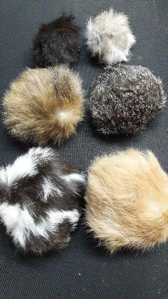 Rabbit Fur Pom Poms 05