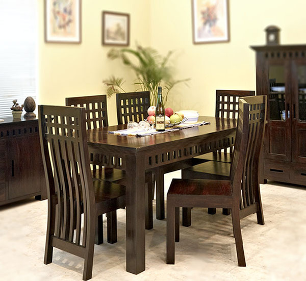 Sheesham Wood Dining Table 01