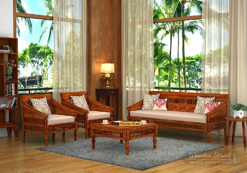 Sheesham Wood Sofa Set 03