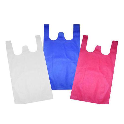 Plain W Cut Non Woven Bags 02