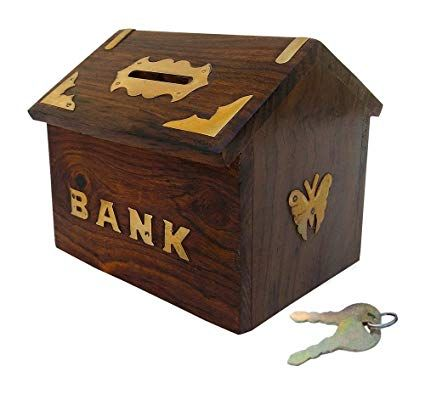 Wooden Money Bank 01